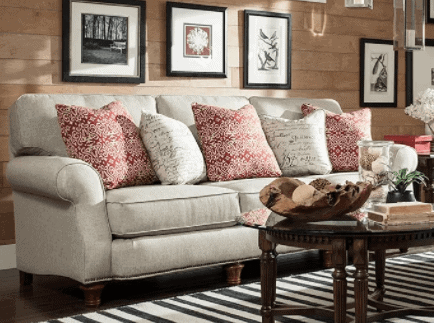 Broyhill Couch I Had To Share This Ticking Stripe Loveseat That Found It Fits A Modern Farmhouse Or Style So Perfectly