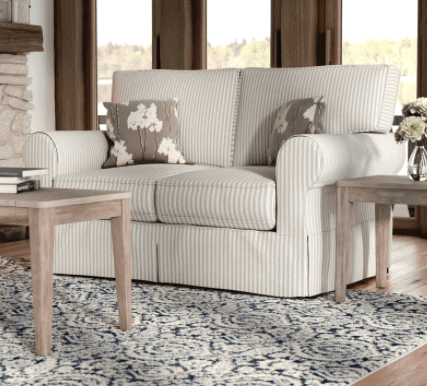 ticking stripe loveseat