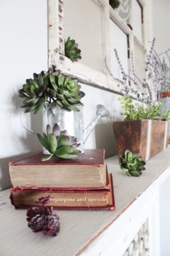 How to decorate a spring mantel