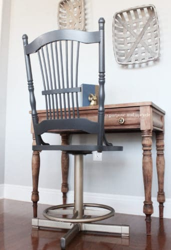 DIY Modern Vintage Style Chair Makeover with Gold Spray Paint