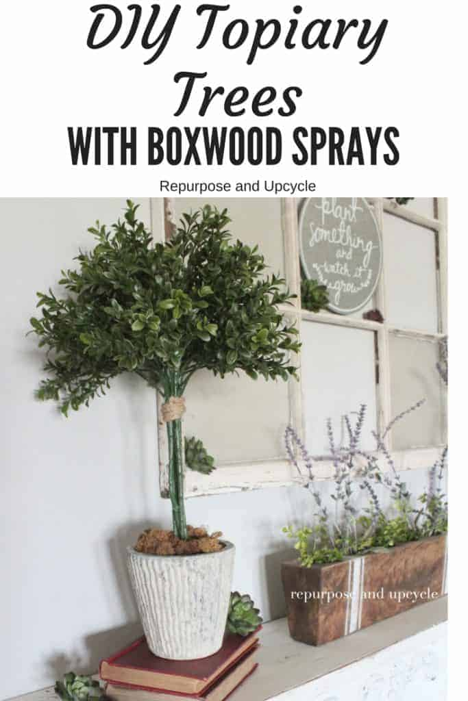 DIY Topiary Tree with Boxwood Sprays