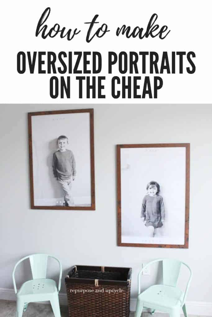 how to make oversized pictures or portraits with engineered prints