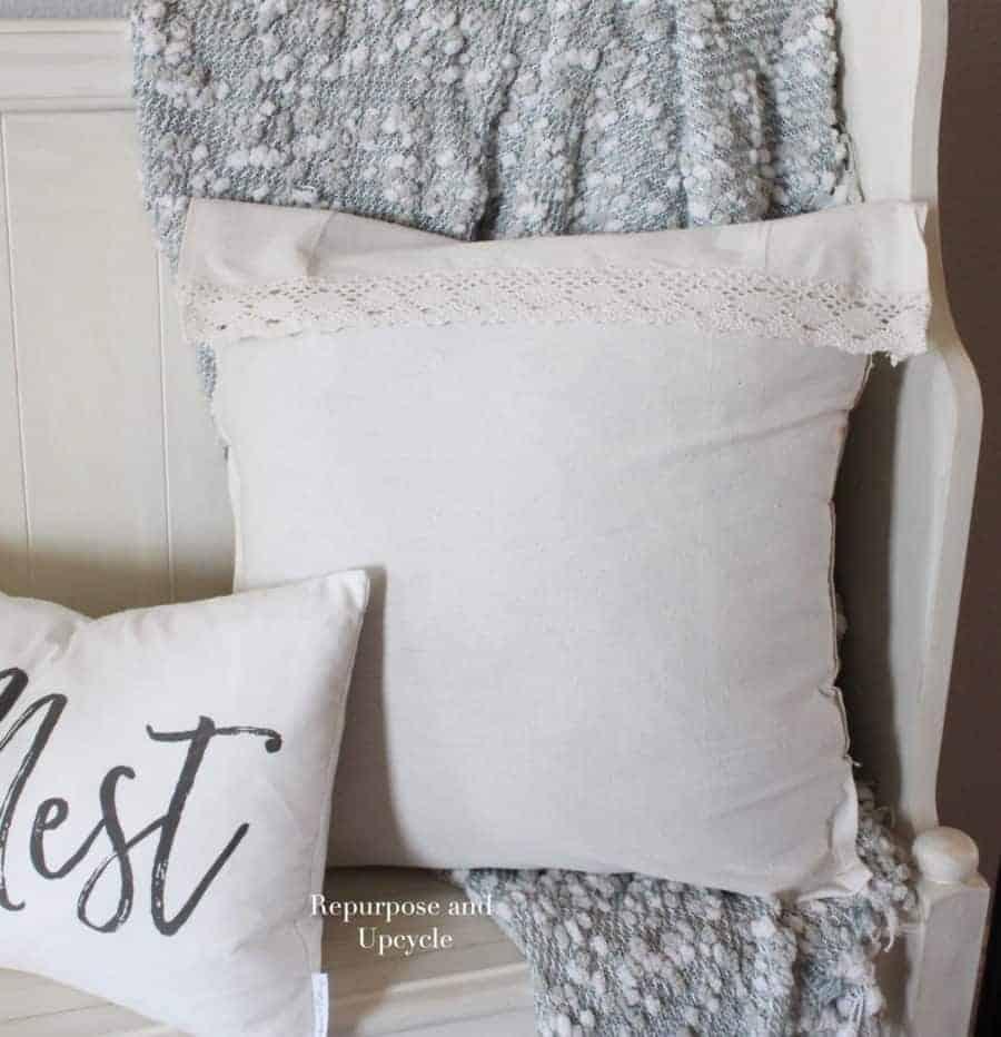 DIY no sew pillow cover