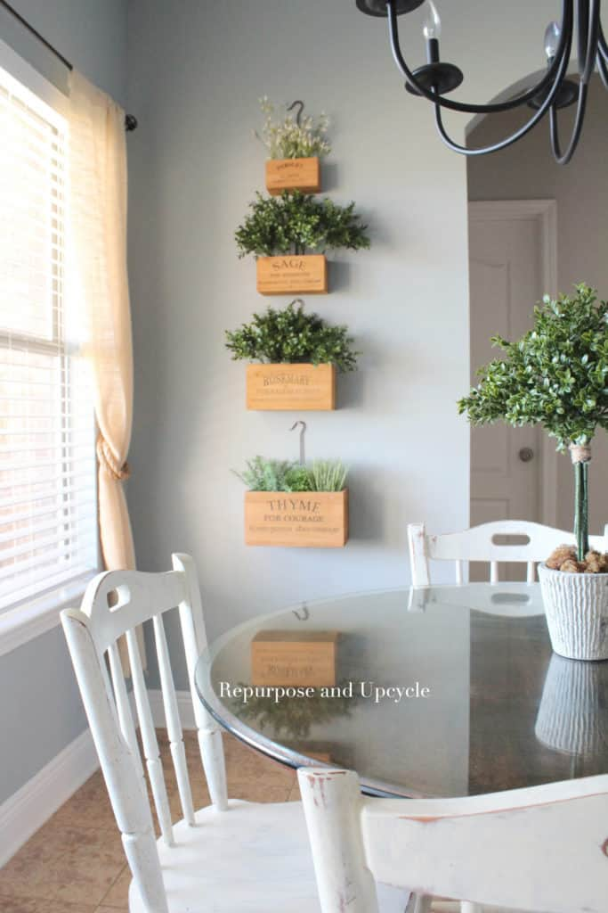 Decorating with Vintage Style Nesting Herb Crates
