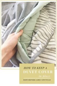 how to keep a duvet cover in place