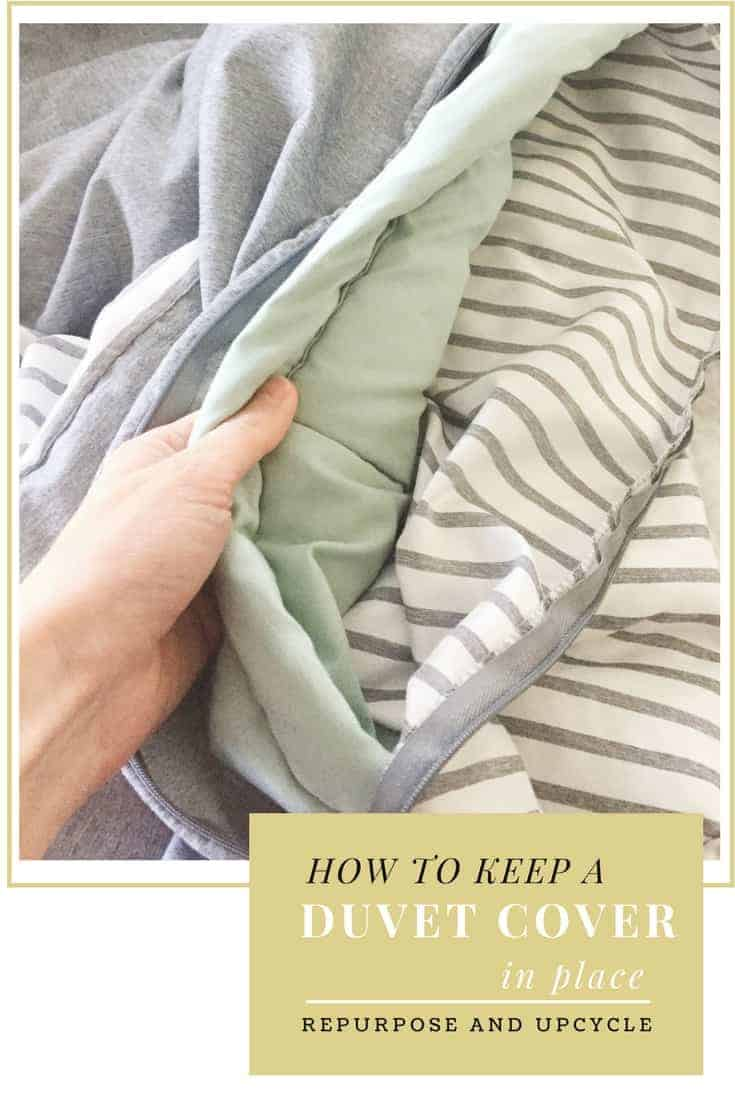 how to keep a duvet cover in place with fabric tape