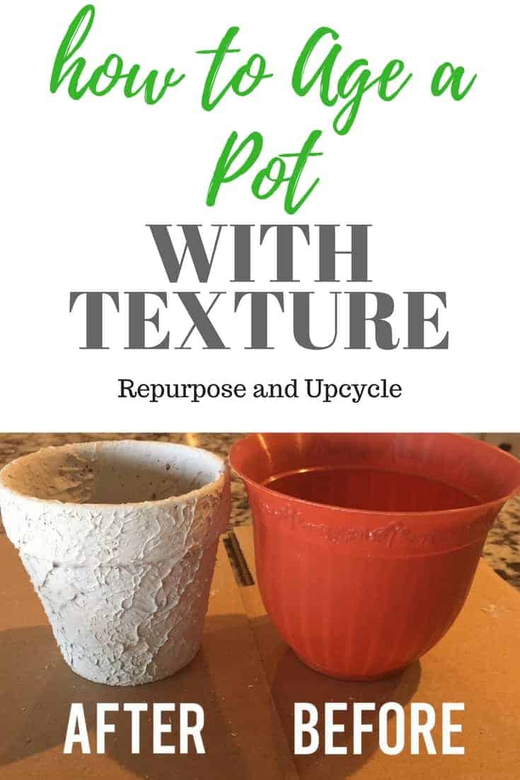 How To Age a Clay Pot with Texture for an Antique Vintage Look