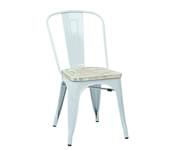 Metal Farmhouse Chairs distressed