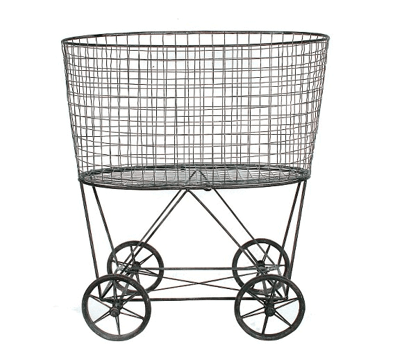 metal vintage laundry basket