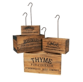 vintage style herb crates