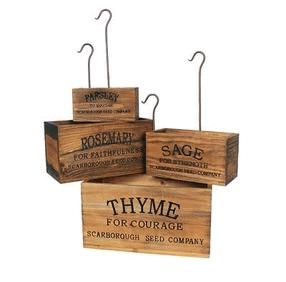 vintage style herb crates