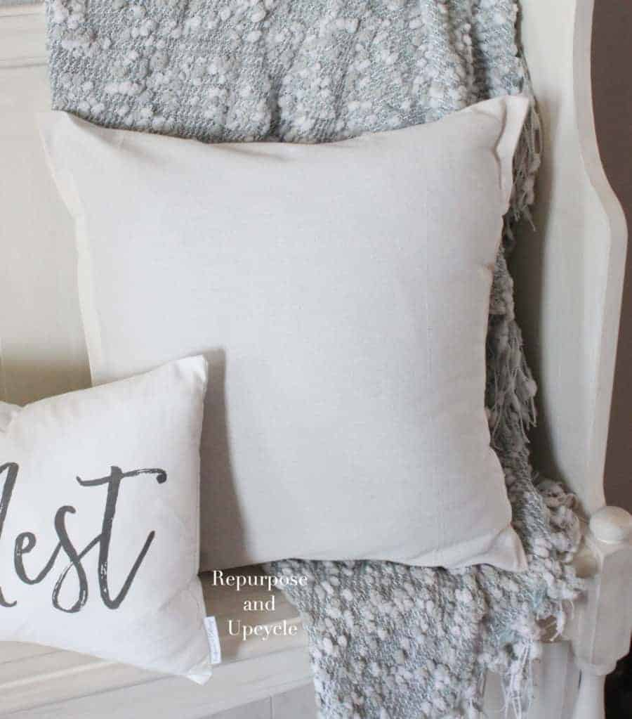 DIY no sew pillow cover