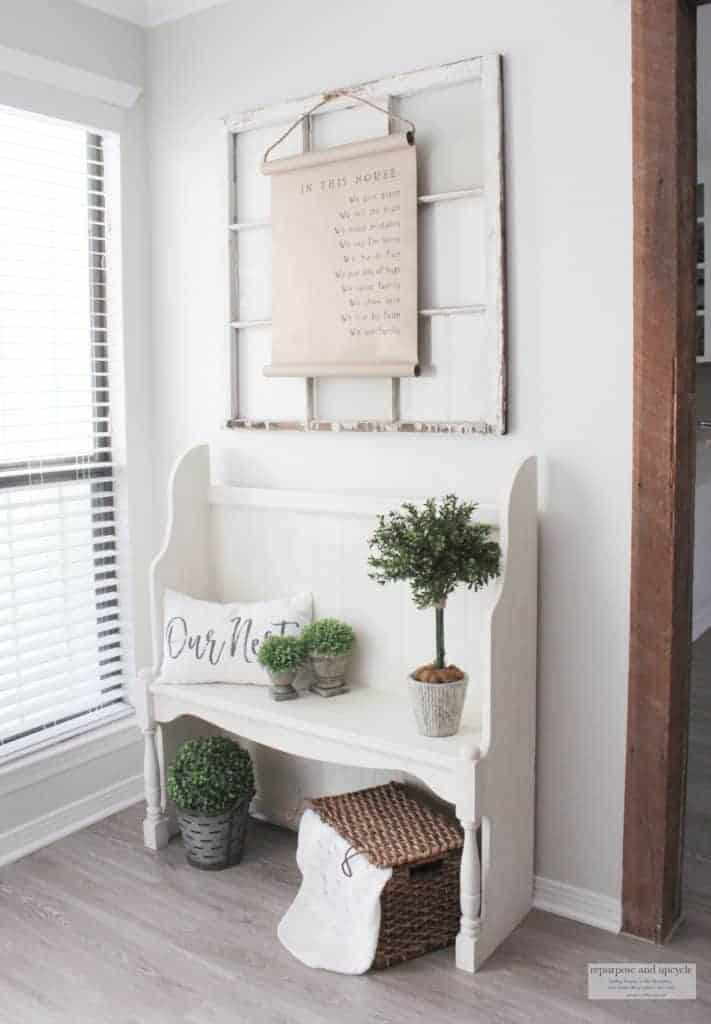 rustic cottage entryway