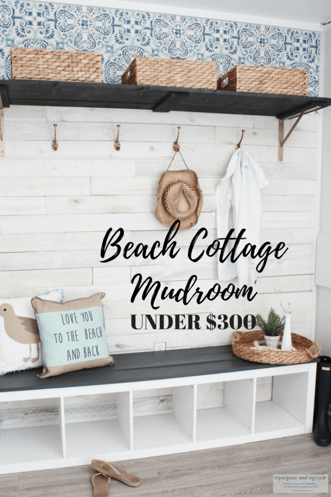 Beach Cottage Mudroom makeover
