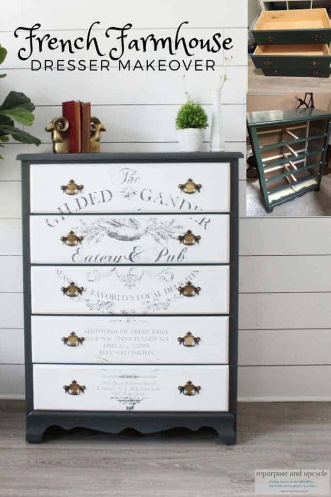 french farmhouse dresser makeover with chalk paint