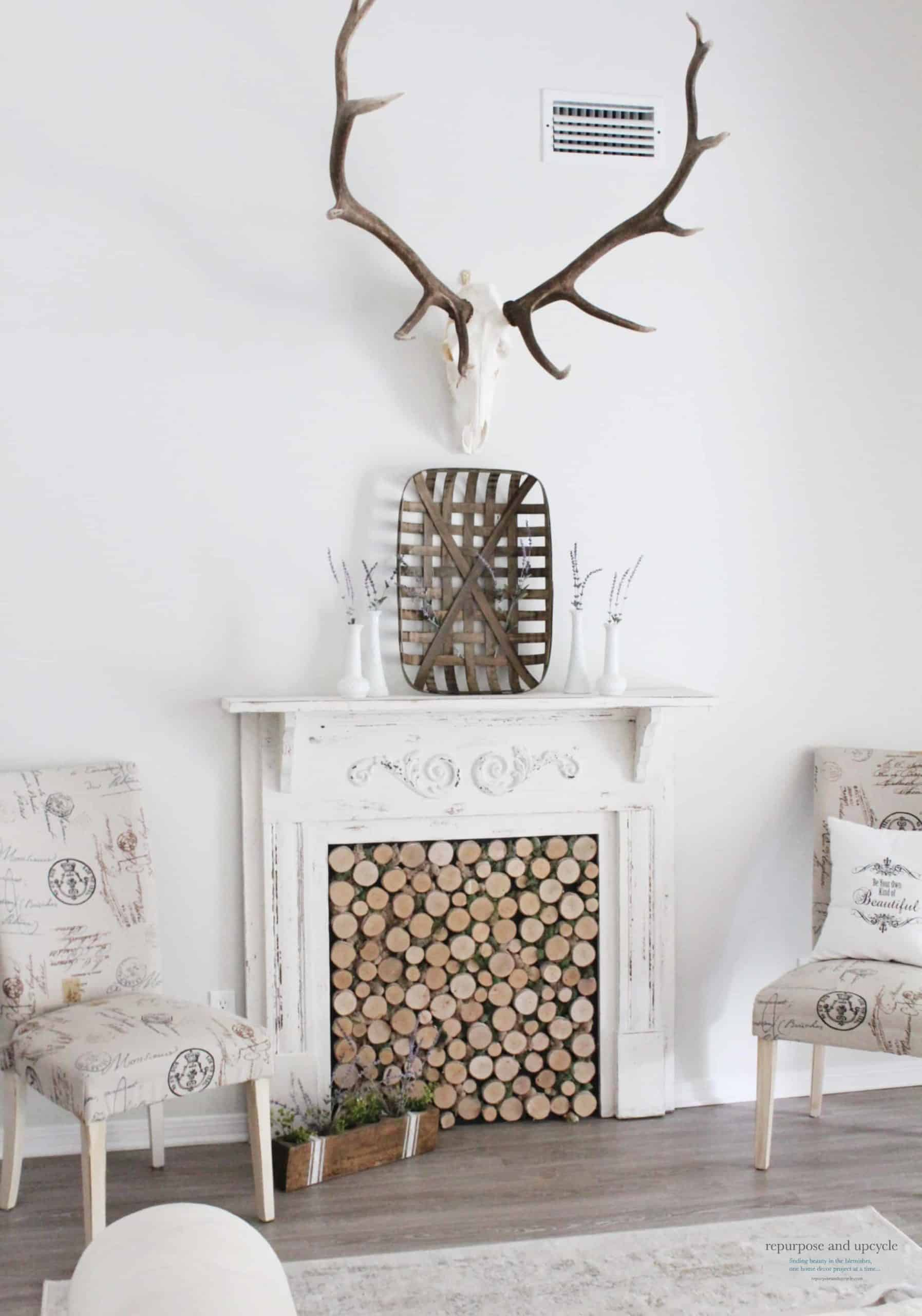Rustic Cottage Summer Mantel
