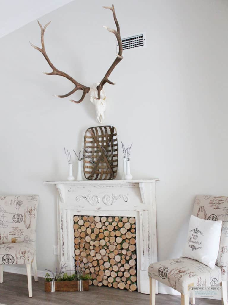 Rustic Cottage Summer Mantel