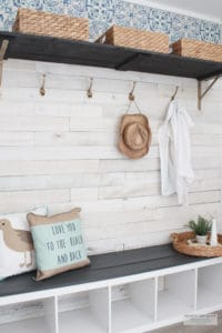 budget friendly beach cottage mudroom makeover