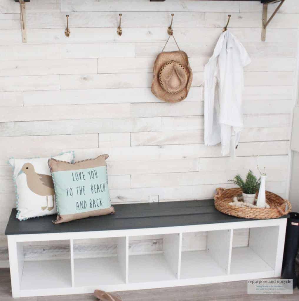 budget friendly beach cottage mudroom makeover