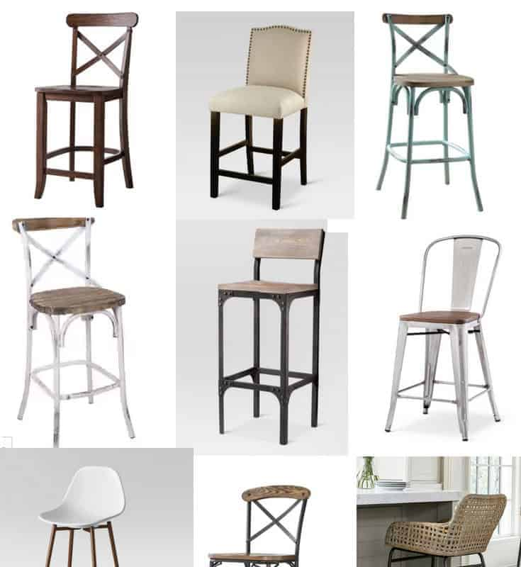 affordable farmhouse style bar stools with backs