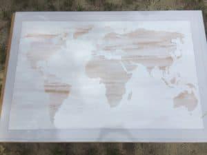 DIY world map art