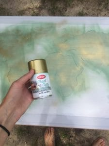 DIY world map art
