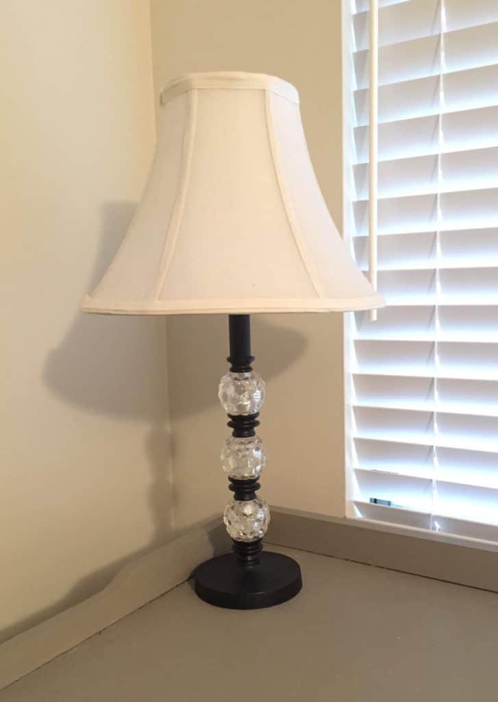 the lamp before adding Rub N' Buff