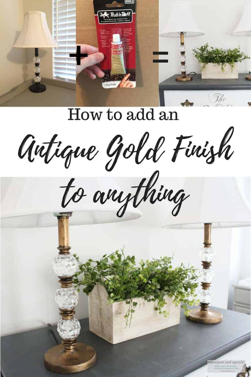 How to add an antique gold finish with rub n buff