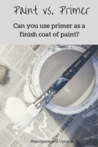 can primer be used as finish coat of paint