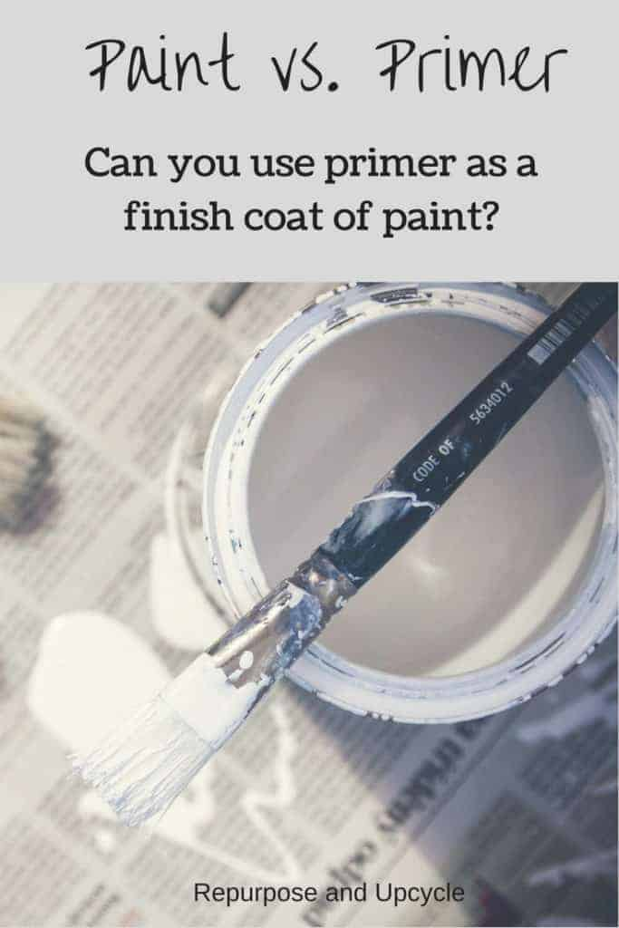 Paint vs. Primer and can primer be used as the finish coat of paint