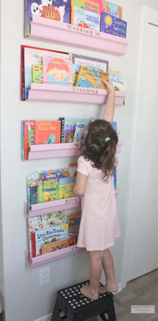 FIve DIY rain gutter bookshelves