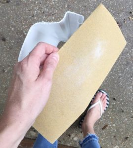 sand paper to sand the edges