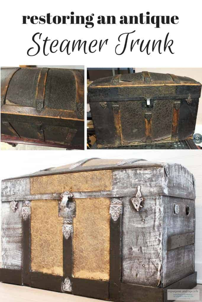 restoring an antique steamer trunk