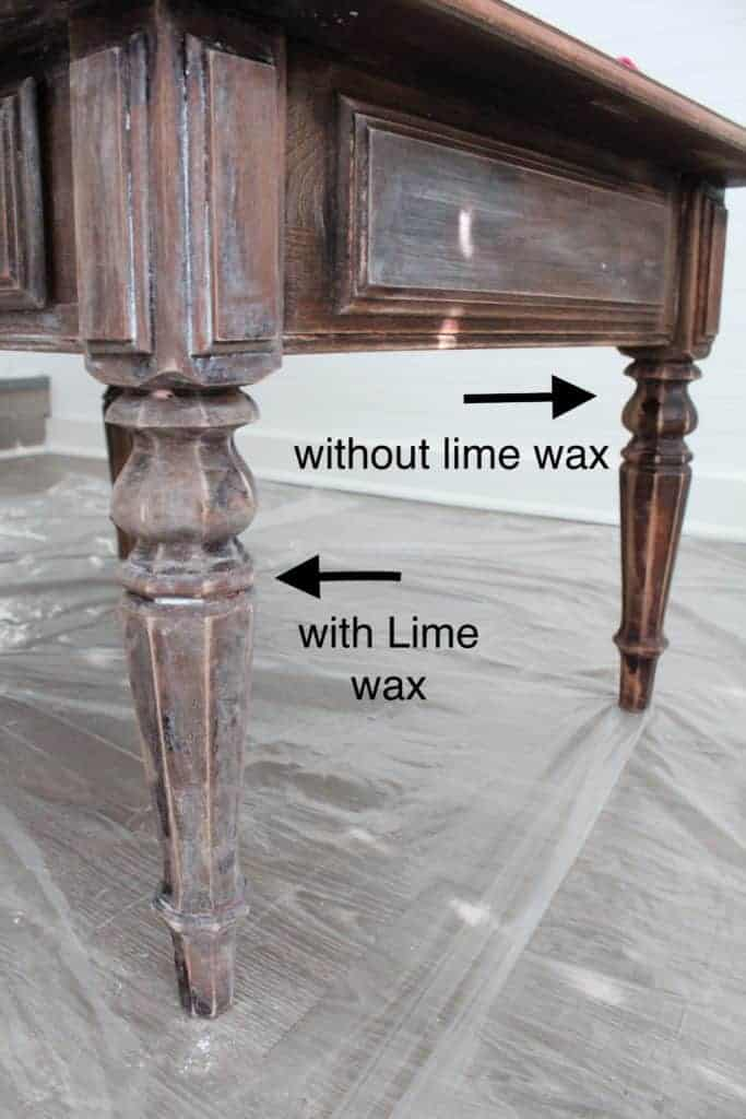 How to use Lime wax with a Lime Washed Coffee Table Makeover