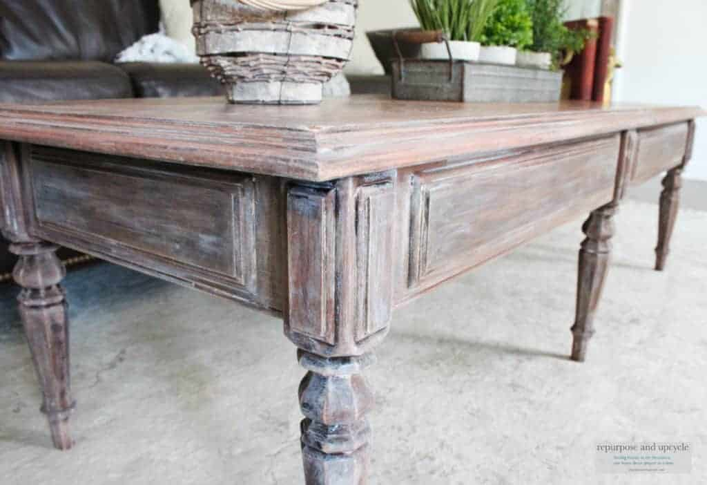 Lime Washed Coffee Table Makeover