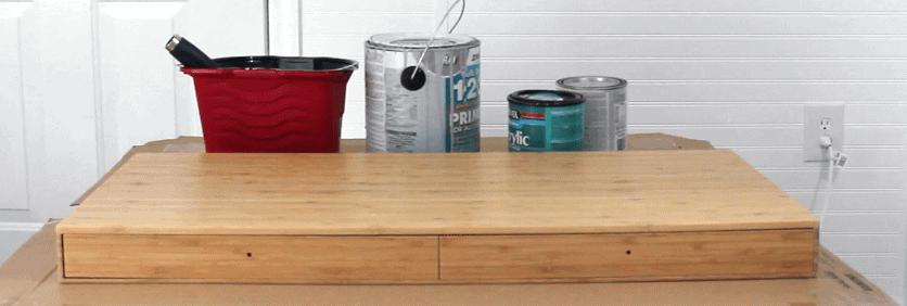 Painting IKEA furniture materials