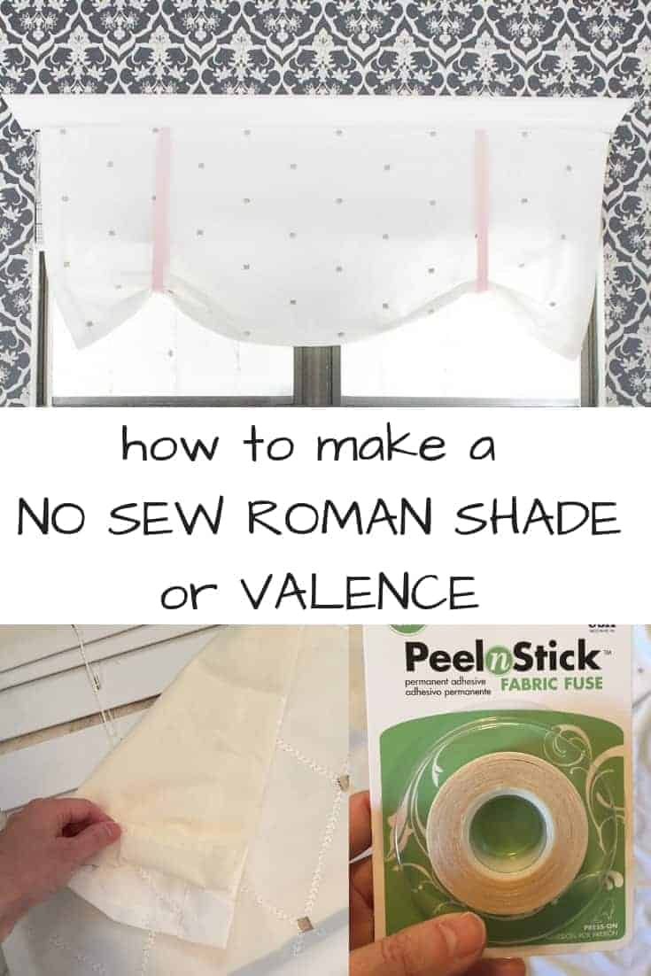 how to make a no sew roman shade or valence