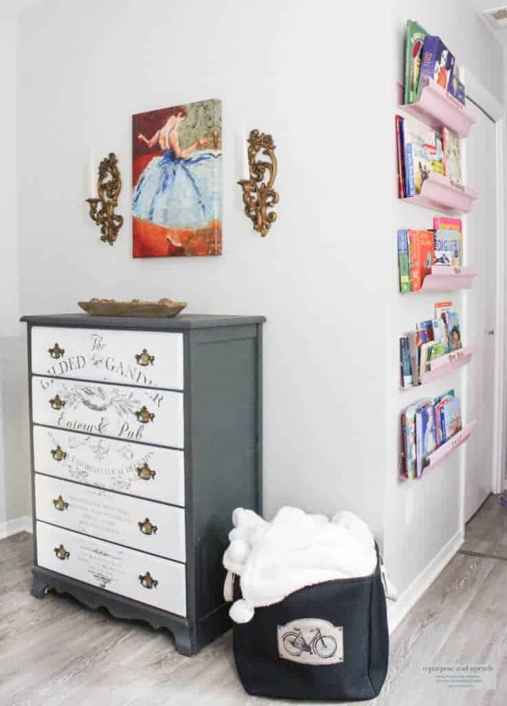 vintage chic bedroom makeover one room challenge