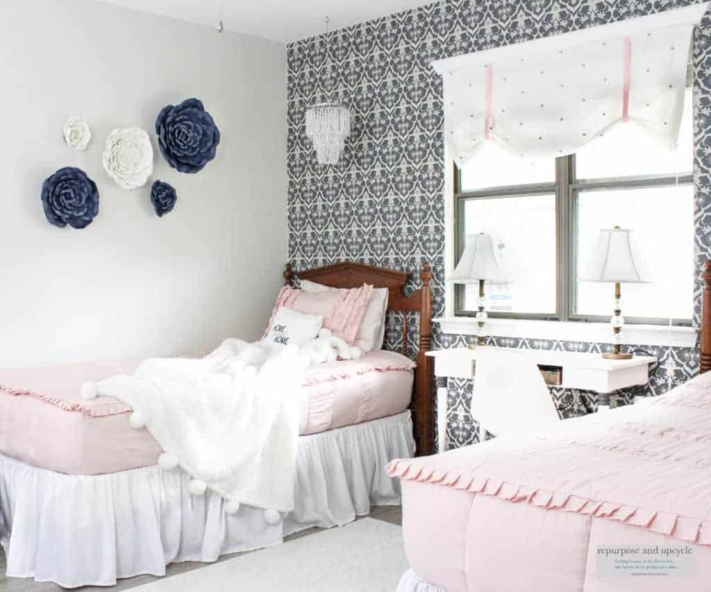 vintage chic bedroom makeover one room challenge
