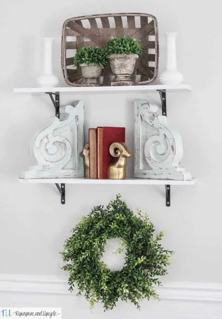 DIY open shelving from Walmart
