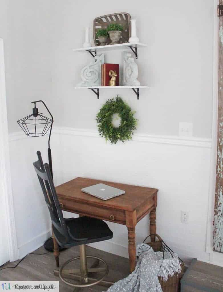 affordable open shelving with shelf styling tips