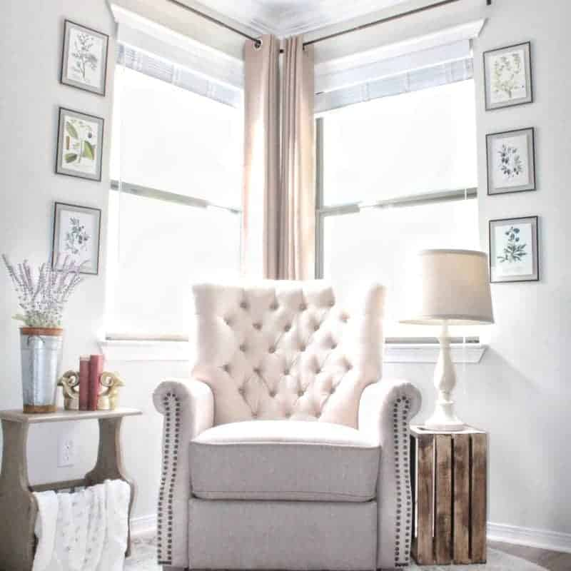 Corner Curtains and a Corner Curtain Rod Hack