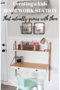 DIY kids homework station