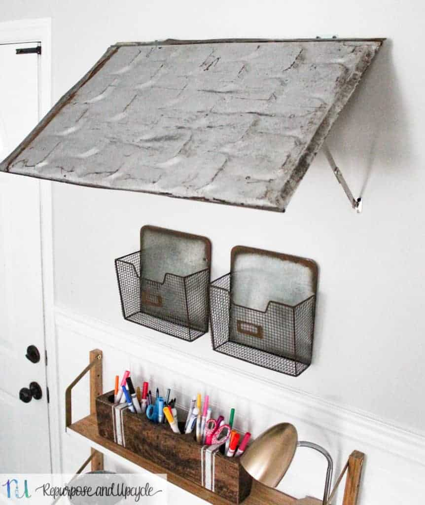 How to Make an Indoor Awning with Repurposed Roofing Tin