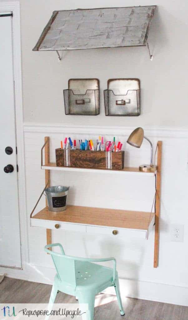 Kids Homework Station with IKEA SVALNÄS Wall Mounted Desk