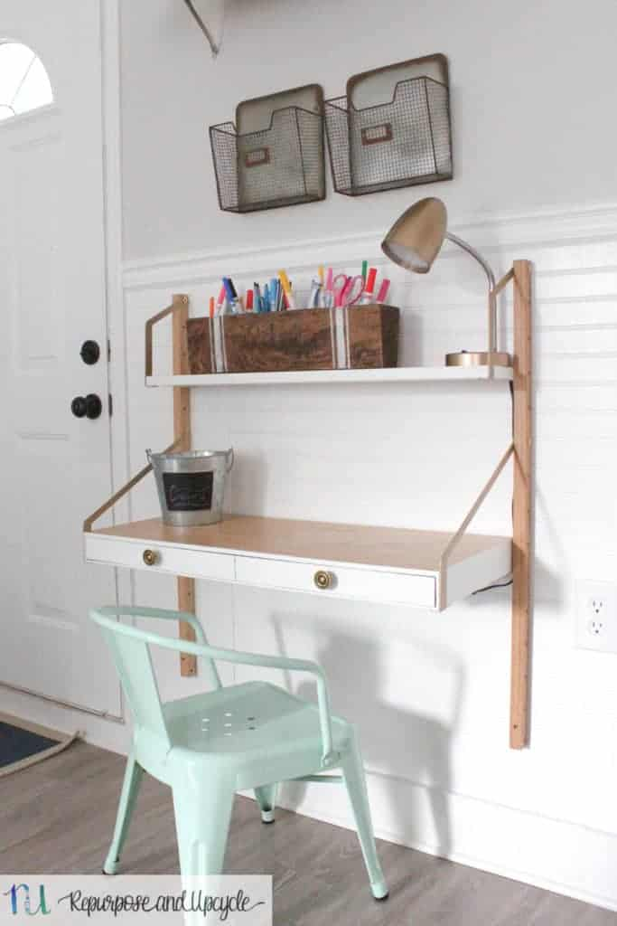 Kids Homework Station With Ikea Svalnas Wall Mounted Desk