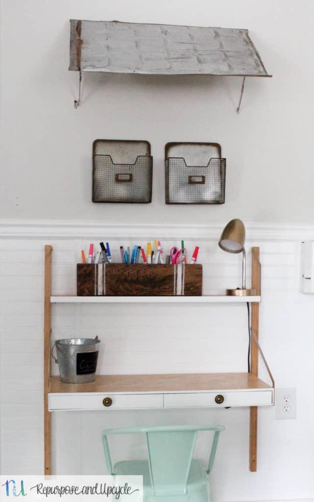 Kids Homework Station with IKEA SVALNÄS Wall Mounted Desk