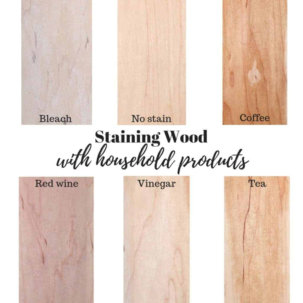 How to stain wood with household products