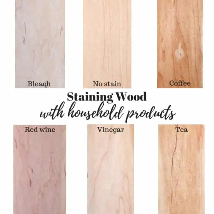 How to stain wood with red wine