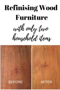refinishing wood with only two household items